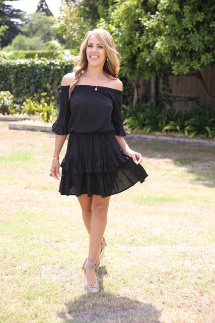 Little Frill Dress - Black