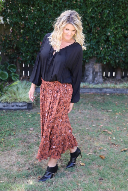 Float my Boat Skirt - Boho Autumn Oranges & Browns