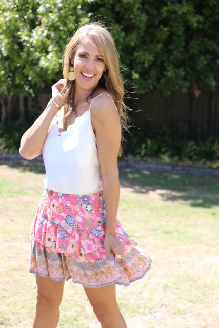 Little Frill Skirt - Prettiest Pink Floral