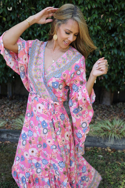 Wing Woman  Maxi Dress - Prettiest Pink