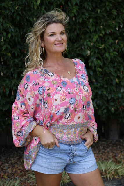 Bella Top - Prettiest Pink Floral