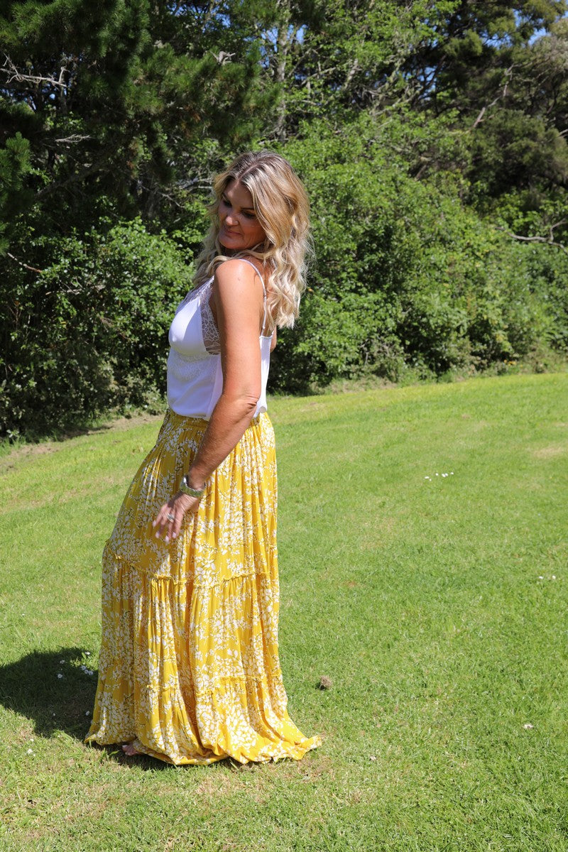 Glam Bohemian Skirt - Yellow Blossom (fave!)