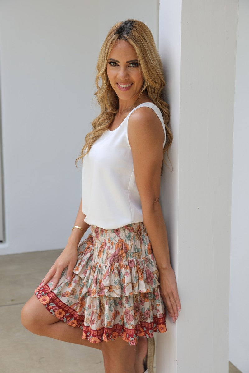 Little Frill Skirt - Summer Boho Floral
