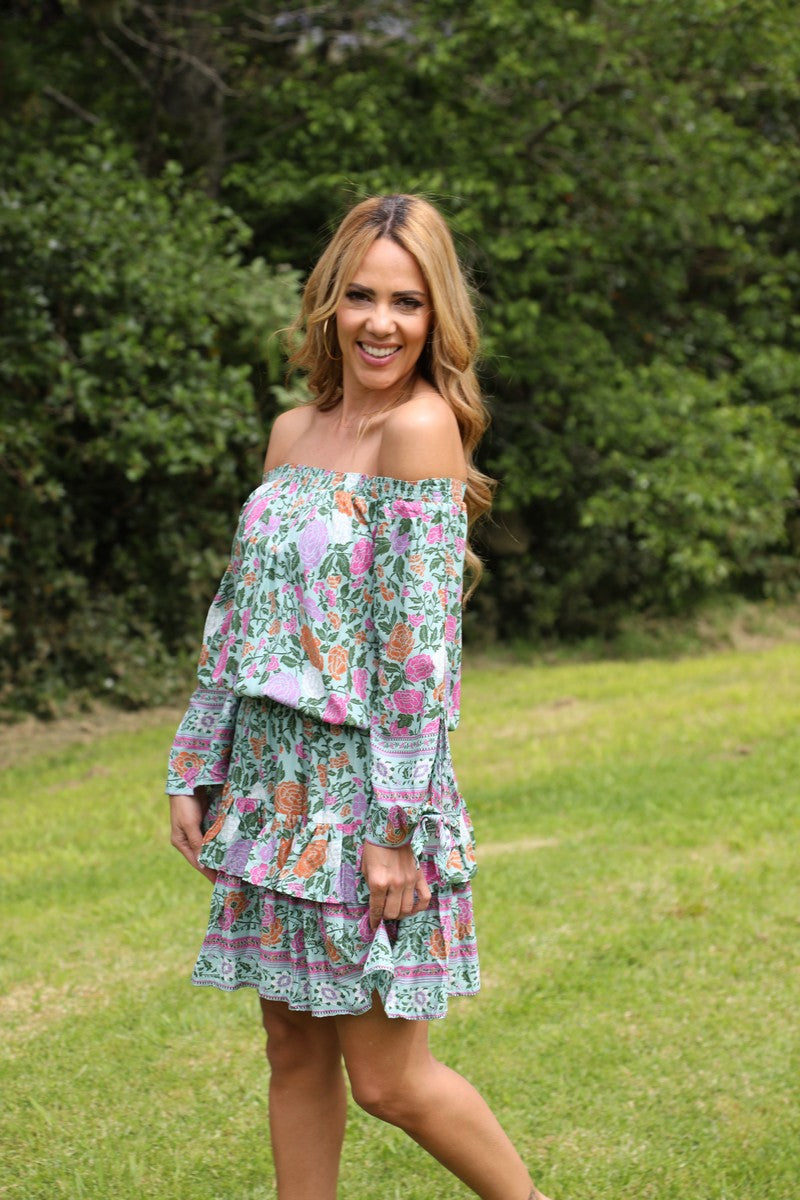 Little Frill Dress - Gorgeous Green Floral