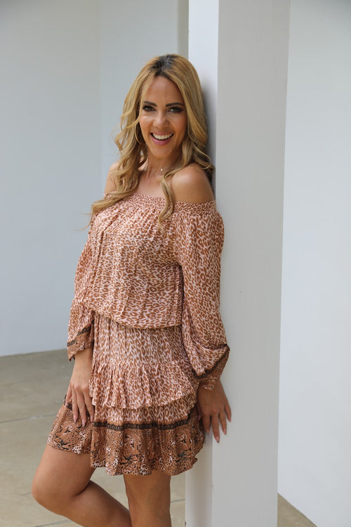 Little Frill Dress - Glam Leopard