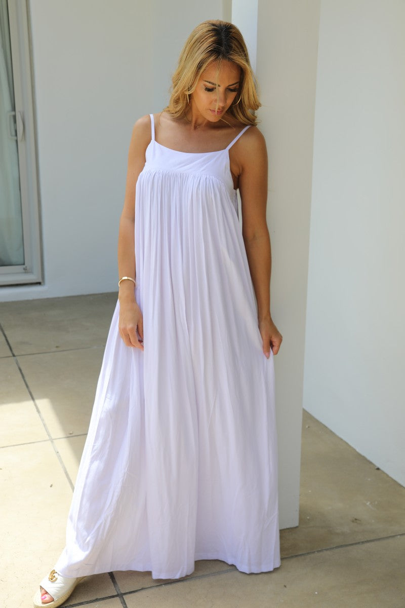 Summer Gather Dress - White
