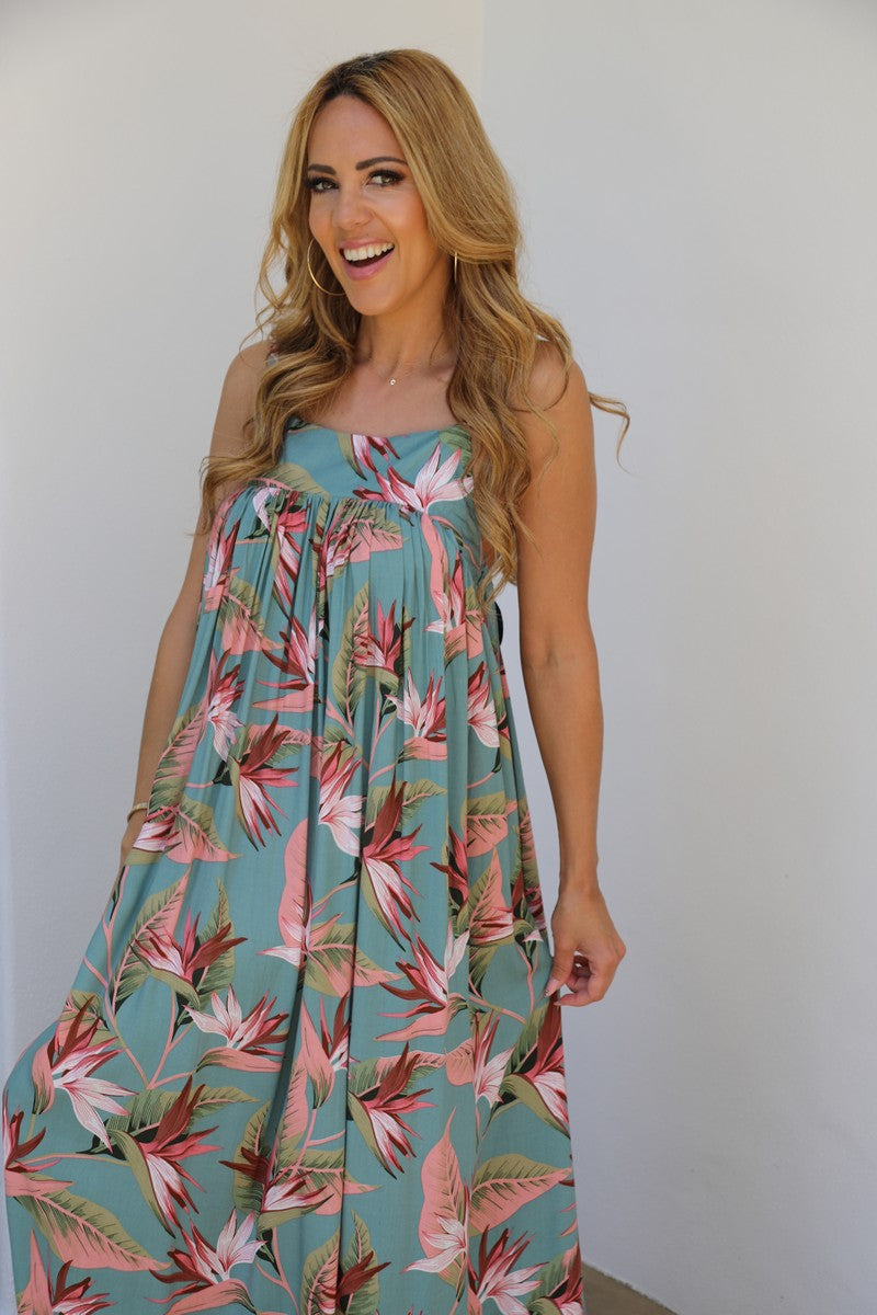 Summer Gather Dress - Tropical Paradise Print