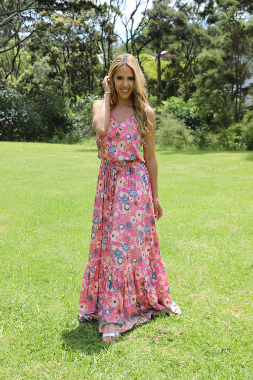 Shoestring Sandy Maxi Dress - Prettiest pink floral