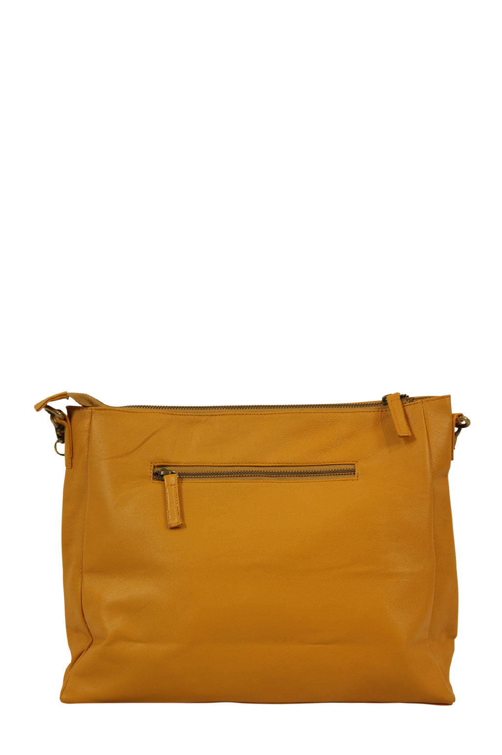 Celia Mustard Leather Strap Down Back