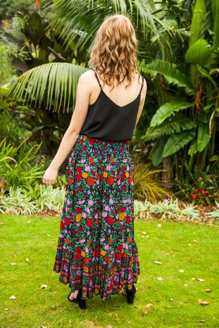 Float my Boat Skirt - Dark Navy Floral