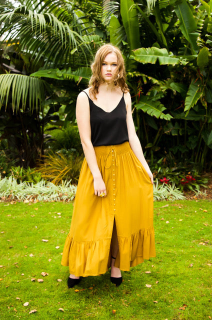 Float my Boat Skirt - Mustard