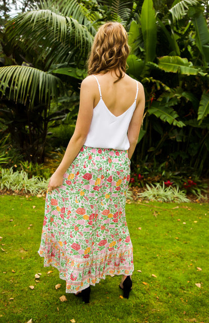 Float my Boat Skirt - White Floral