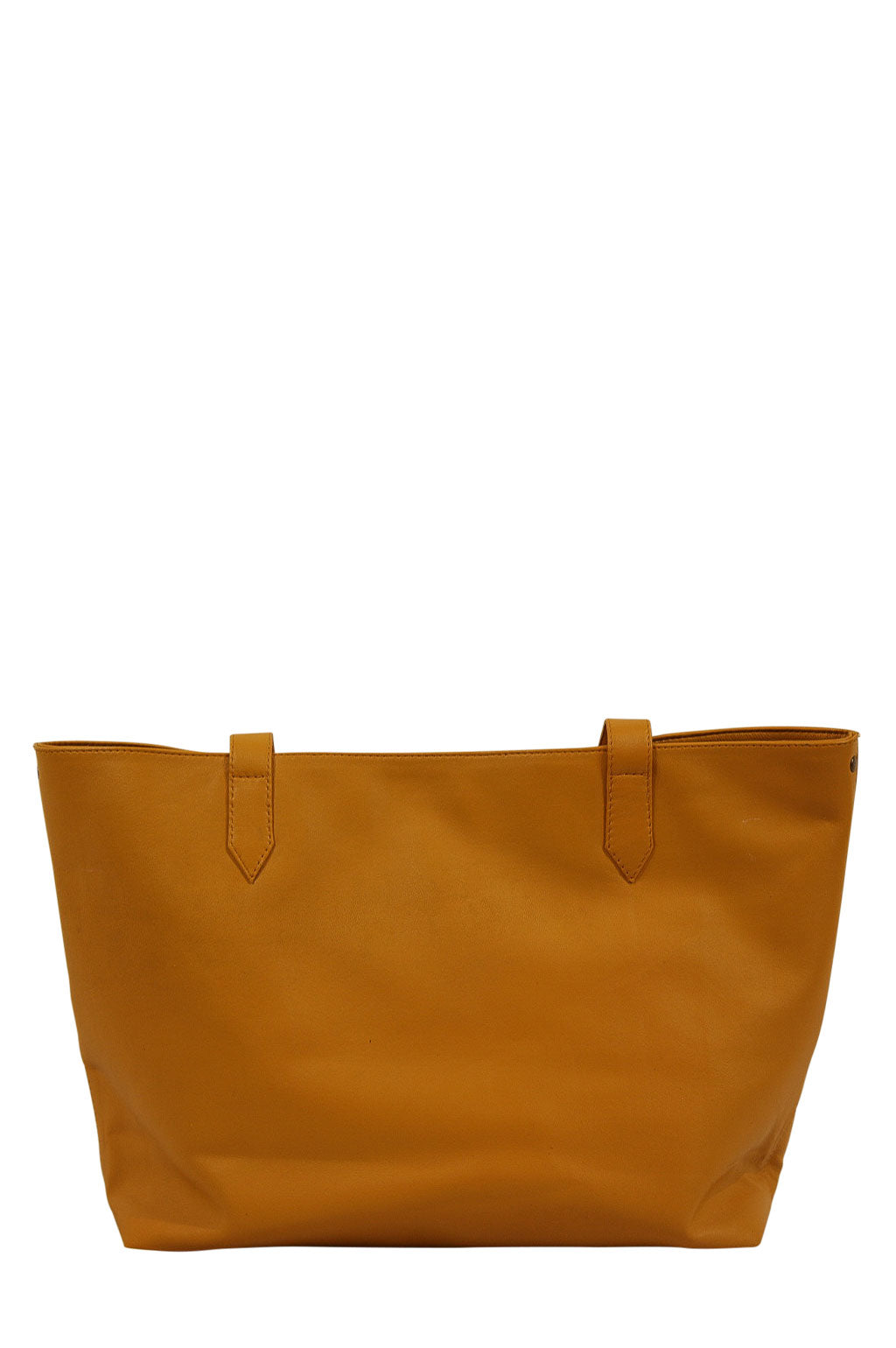 Florence Mustard Leather Strap Down Front