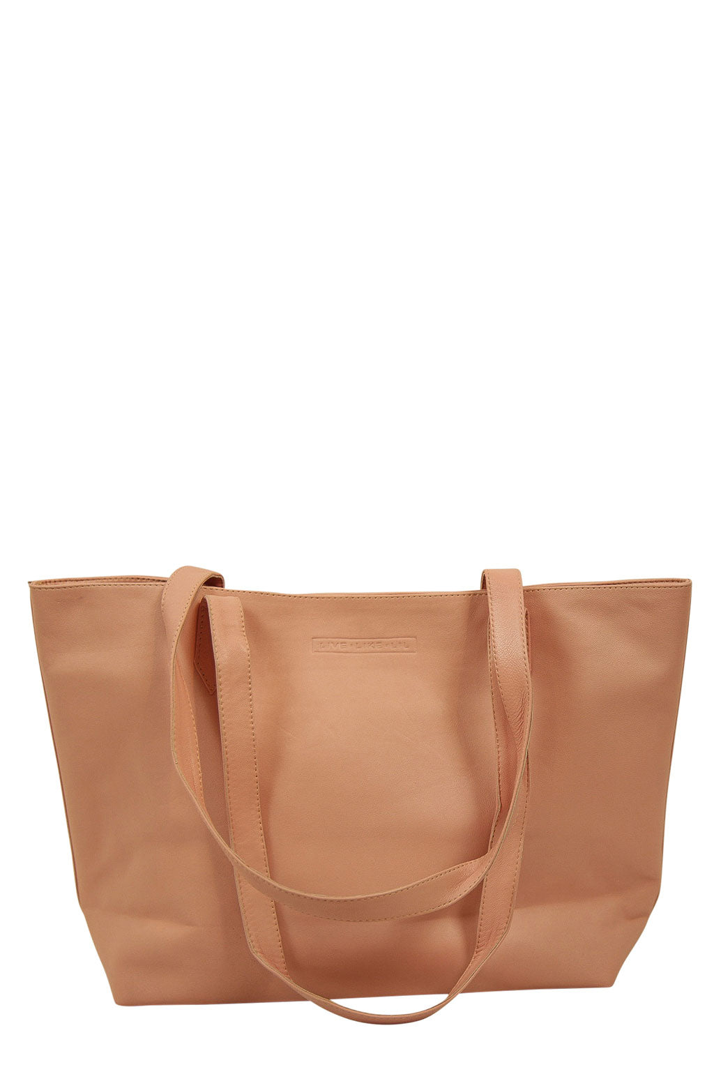 Florence Light Pink Leather Straps Down