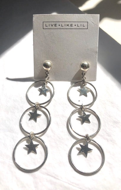 Bright Star Earrings - Silver (Sterling Silver 925)