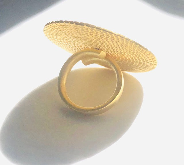 Full Moon Ring - Gold (Sterling Silver 925/ 24 Karat Gold Plated)