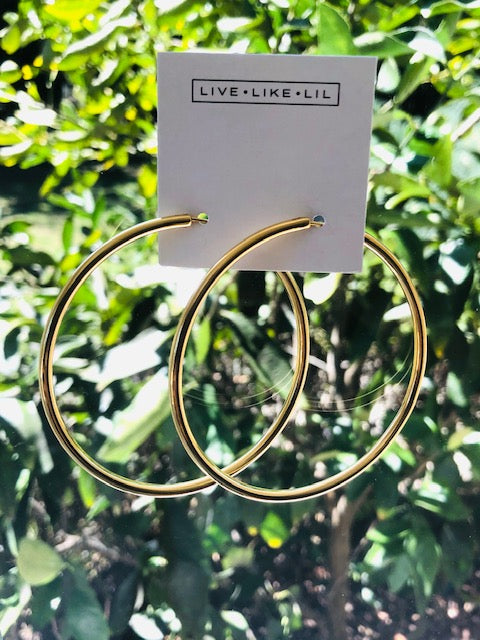 Live Like Lil HOOPS - Gold or Silver (Sterling Silver 925/ 24 Karat Gold Plated)