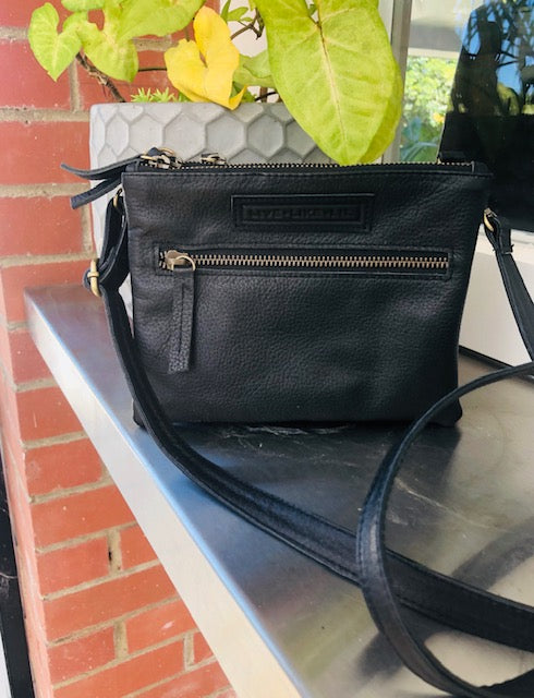Zip Bag - Beautiful Soft Black Leather