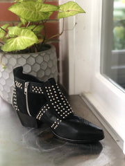 Stud Boot - Black & Silver