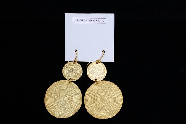 Full Moon Earrings - Gold (Sterling Silver 925/ 24 Karat Gold Plated)