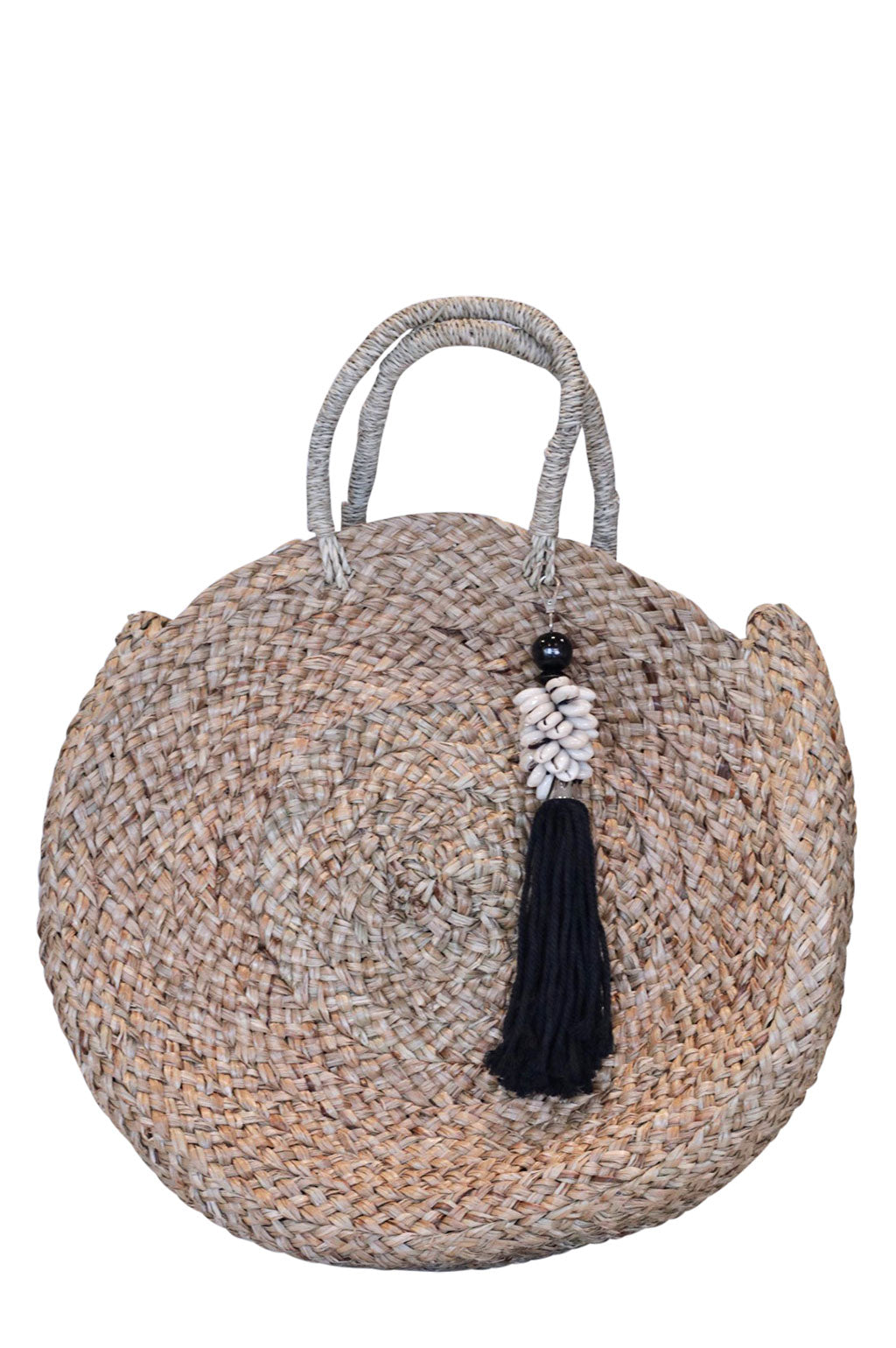 Sandy Bag Black Shell Tassel