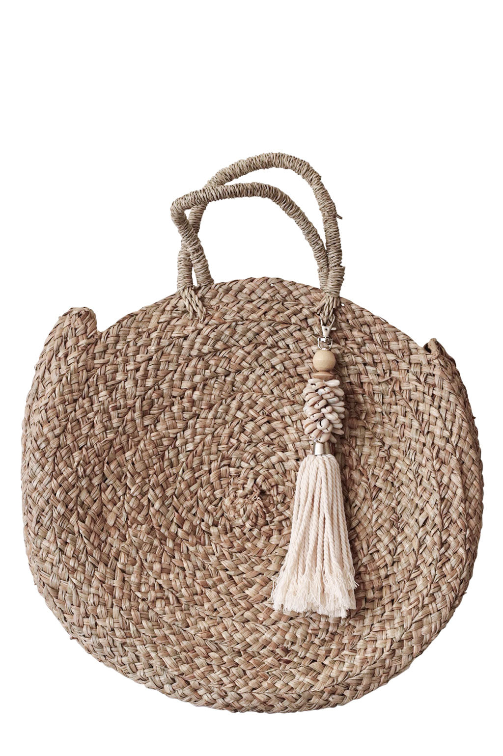 Sandy Bag White Shell Tassel