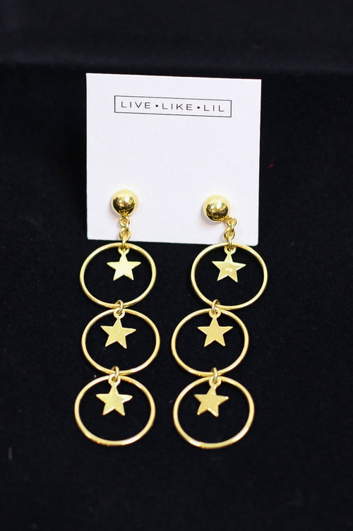 Bright Star Earrings Gold