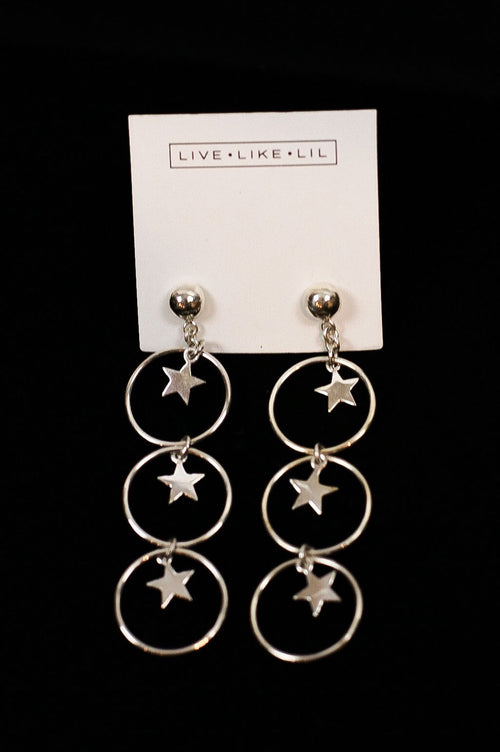 Bright Star Earrings Silver