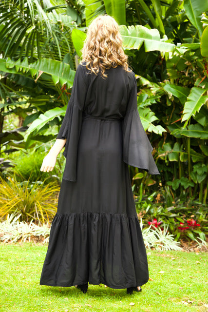 Wing Woman Maxi Dress - Black