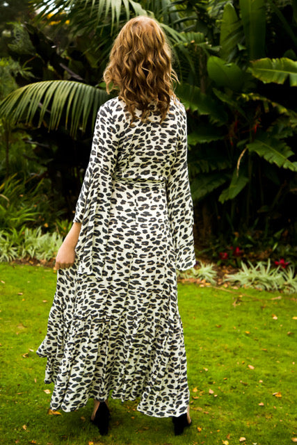 Wing Woman Maxi Dress - Leopard Print