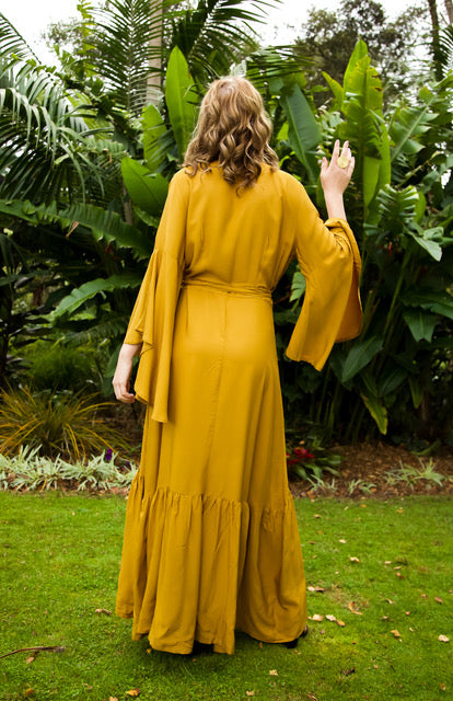 Wing Woman Maxi Dress - Mustard