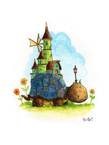 Turtle Town Watercolor Print
