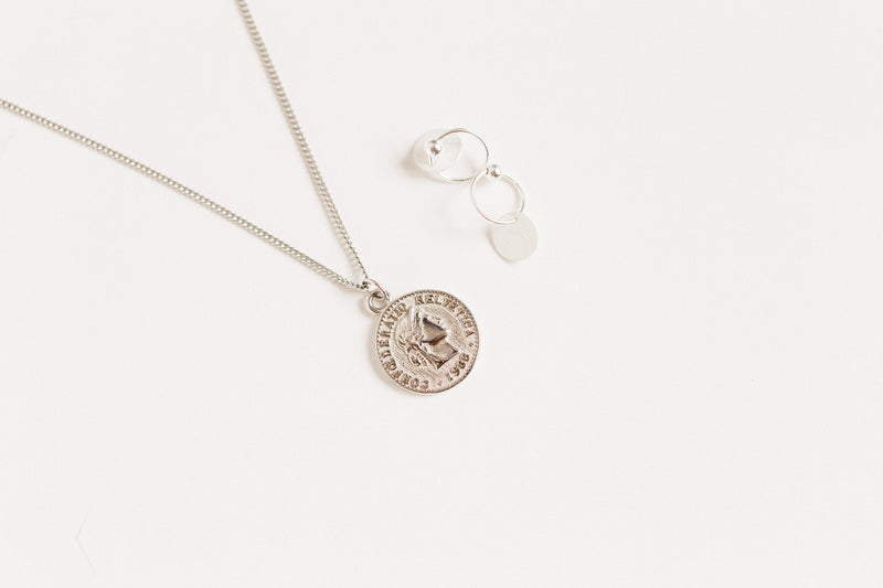 COIN SILVER NECKLACE