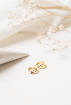 SWAN GOLD EARRINGS