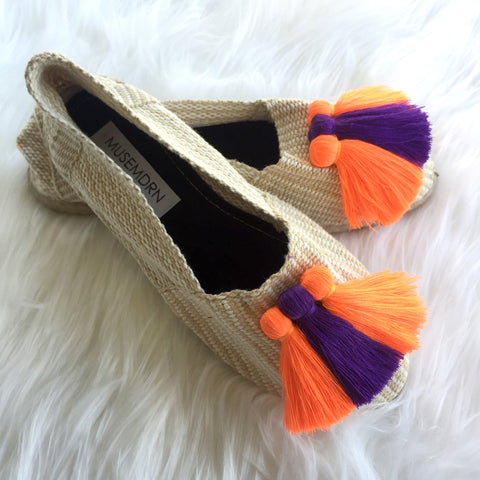 COZY NATURAL NEON ORANGE /DEEP VIOLET MIX MUSIES