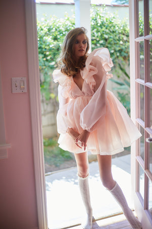 The Peach Sugarfrill Dress