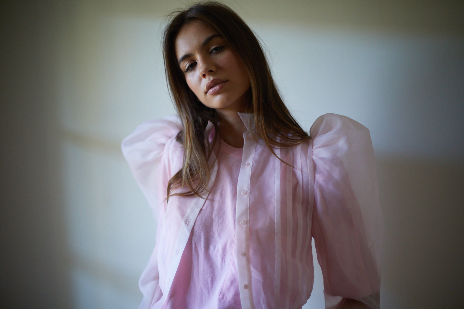 The Emma Blouse - Pink Custard