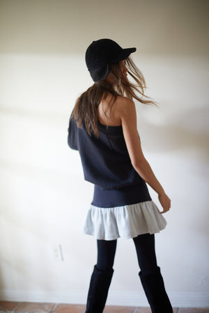 The Black One Shoulder Sweater FINAL SALE