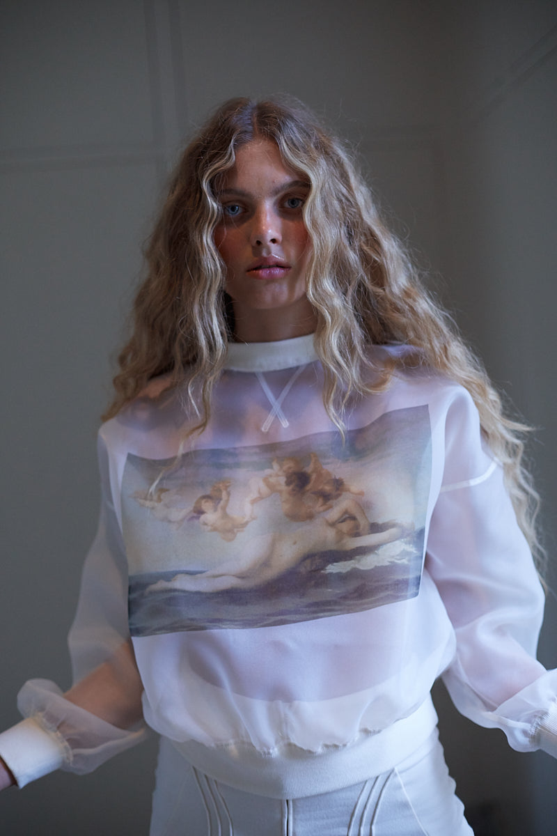 The Birth of Venus Ghosted Sweater