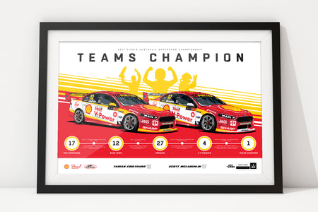 In Stock: Shell V-Power Racing Team 2017 Teams Champion Limited Edition Print