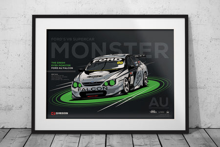 Pre-Order Alert: Ford AU Falcon 'Green Eyed Monster' Race Debut Print