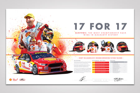 "Pre-Order Alert: ""17 For 17"" Limited Edition Print Signed by Scott McLaughlin & Dick Johnson"