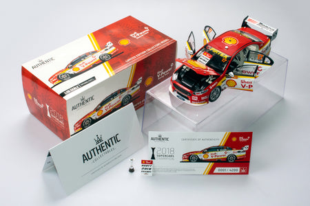 Now In Stock: 1:18 Scale Shell V-Power Racing Team Scott McLaughlin 2018 Championship Winner