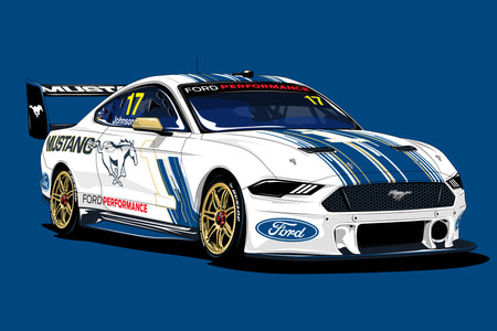 Now In Stock: 2019 DJR Team Penske, Tickford Racing and 23 Red Racing Mustang Prints