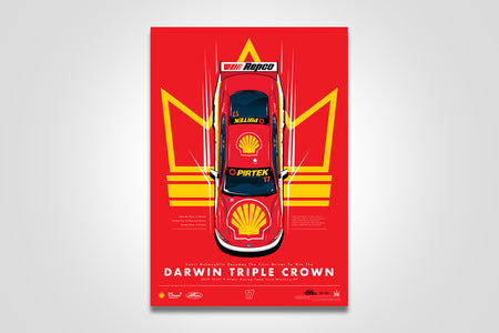 Pre-Order Alert: Scott McLaughlin Becomes The First Driver To Win The Darwin Triple Crown Print