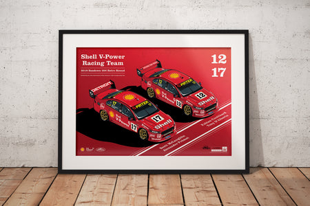 Pre-Order Alert: Shell V-Power Racing Team 2018 Sandown 500 Retro Round Limited Edition Prints