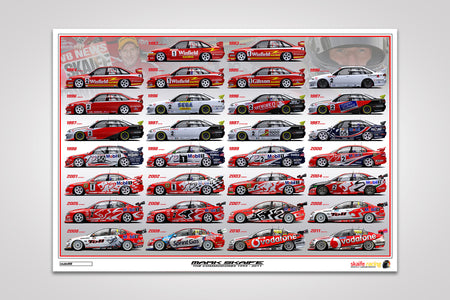 Pre-Order Alert: Mark Skaife - The Commodores 1993-2011 Print from V8 Sleuth & Peter Hughes