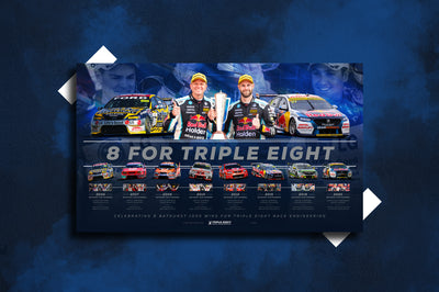 Pre-Order Alert: Triple Eight Race Engineering '8 For Triple Eight' Bathurst 1000 Wins Limited Edition Print