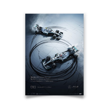 Mercedes-AMG Petronas Motorsport - Donuts  - 2019 F1 World Constructors Champions Collector's Edition Print