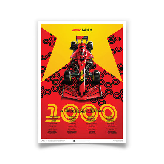 Formula 1 2019 Heineken Chinese Grand Prix - 1000th Grand Print Commemorative Print